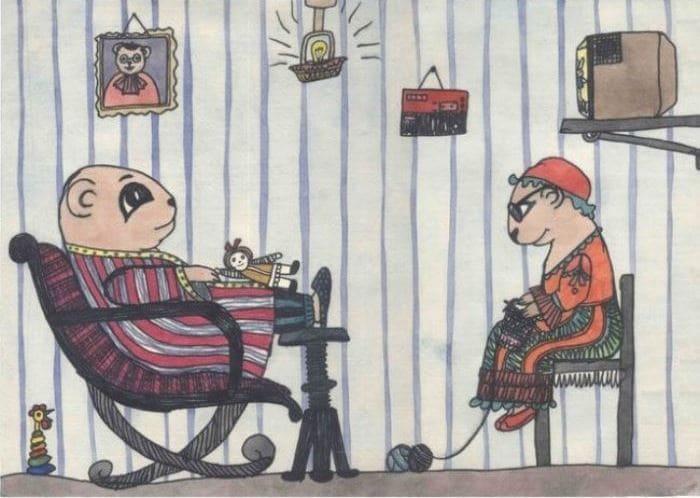 Саша Путря. *Мама и папа в виде хомячков*, 1986 | Фото: mixnews.lv