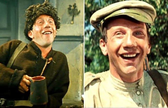 Кадры из фильмов *Неуловимые мстители*, 1966, и *Новые приключения неуловимых*, 1968
