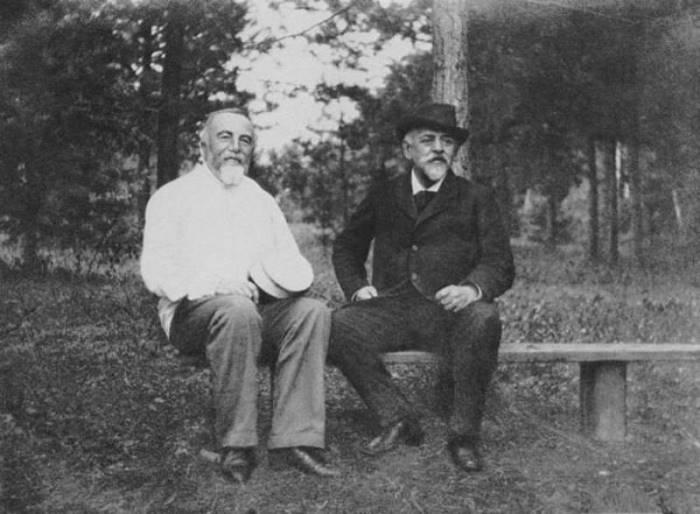 В. Поленов и С. Мамонтов, 1890-е гг. | Фото: artchive.ru