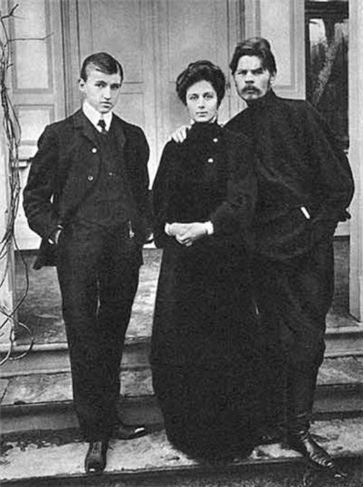 Мария Андреева и Максим Горький
