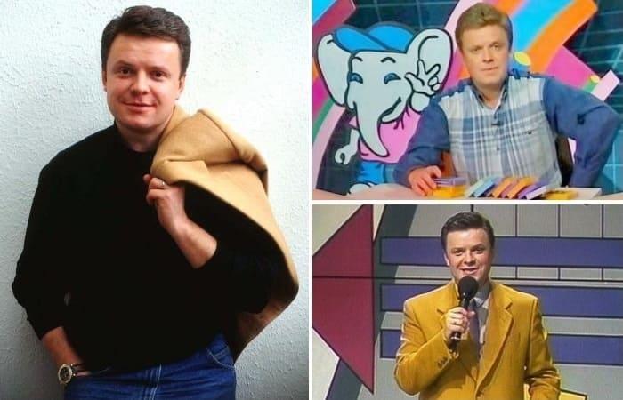 Лучший друг детей 1990-х гг., ведущий Сергей Супонев | Фото: kino-teatr.ru и starhit.ru