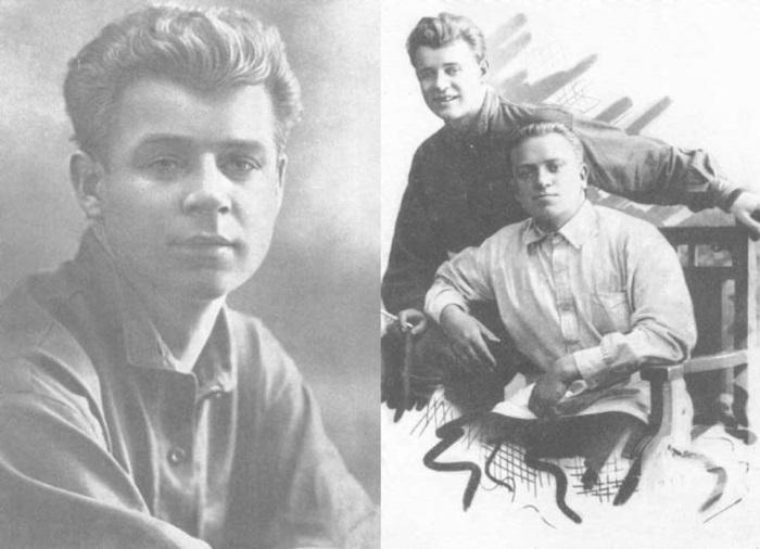 С. Есенин и его приятель, редактор газеты *Бакинский рабочий* П. Чагин, Баку, 1924 | Фото: esenin.niv.ru
