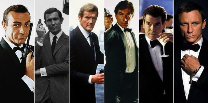 Актеры, воплотившие образ Джеймса Бонда на экране | Фото: bravedefender.ru