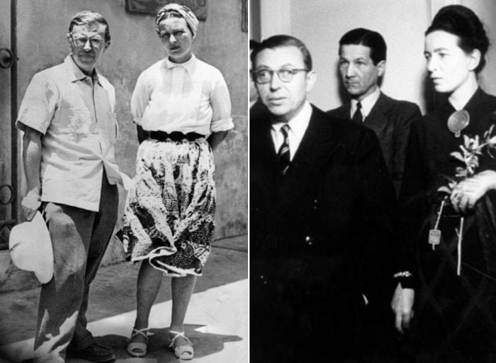 Жан-Поль Сартр и Симона де Бовуар | Фото: heliograph.ru и theredlist.com