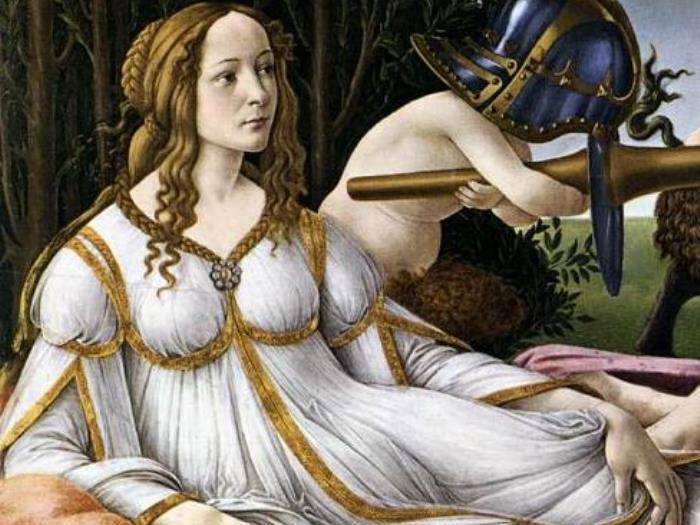 Сандро Боттичелли. Венера и Марс, 1483. Фрагмент