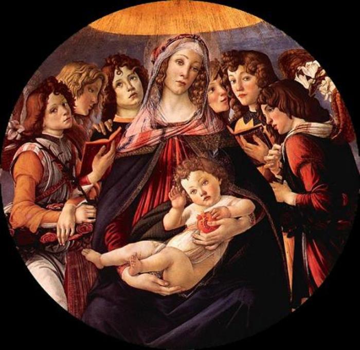 Сандро Боттичелли. Мадонна с гранатом, 1487