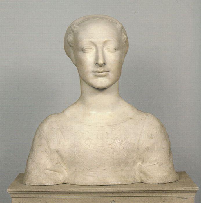 Андреа Вероккьо. Женский портрет. Предположительно, это портрет Симонетты Веспуччи