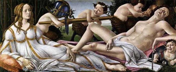 Сандро Боттичелли. Венера и Марс, 1483