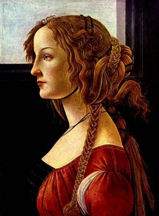 Сандро Боттичелли. Симонетта Веспуччи (предположительно), 1475
