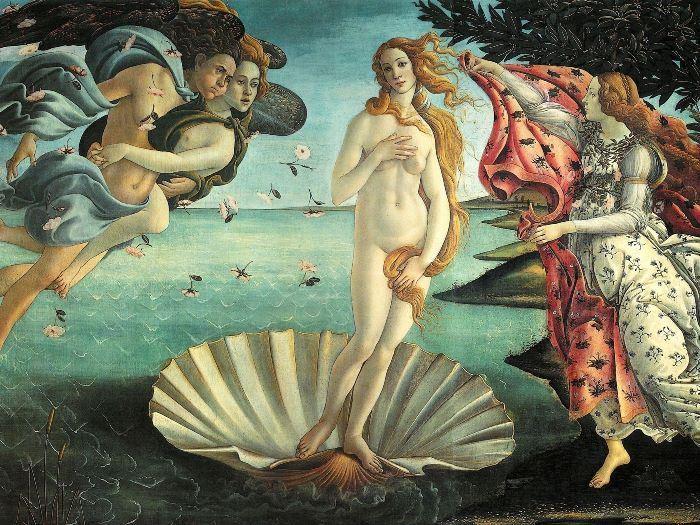 Сандро Боттичелли. Рождение Венеры, 1485