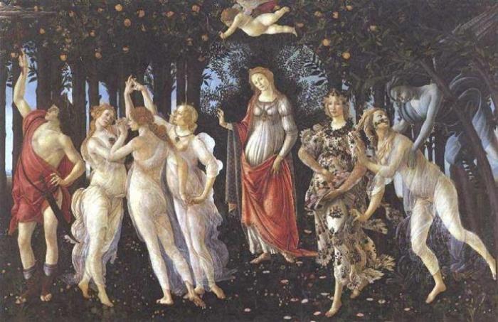 Сандро Боттичелли. Весна (Primavera), 1482