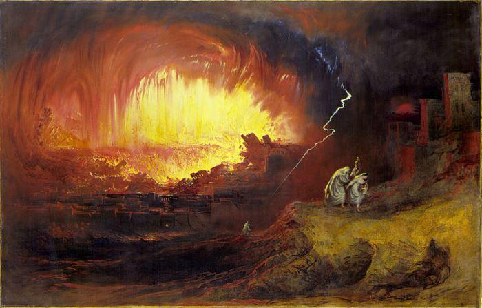 Джон Мартин. Уничтожение Содома и Гоморры, 1852