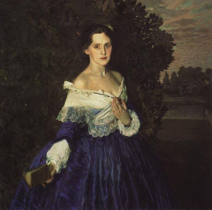 К. Сомов. Дама в голубом, 1897-1900 | Фото: gallerix.ru