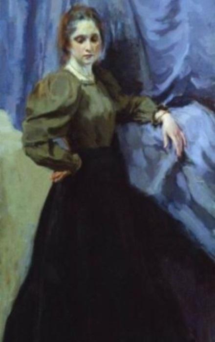 И. Браз. Портрет Е. М. Мартыновой, 1896. Фрагмент | Фото: artsait.ru