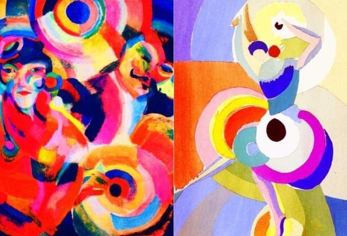 Соня Делоне. Слева – *Певцы фламенко*. Справа – *Танцовщица фламенко*, 1916 | Фото: artchive.ru