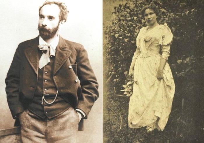 Слева – И. Левитан, фото 1889 г. Справа – С. Кувшинникова, 1880-е гг. | Фото: persones.ru и liveinternet.ru