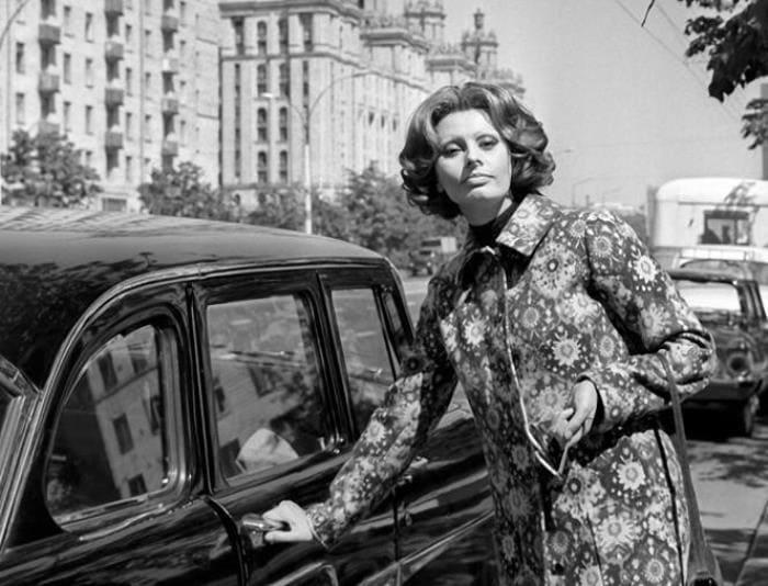 Итальянская актриса в Москве, 1969 | Фото: bigpicture.ru