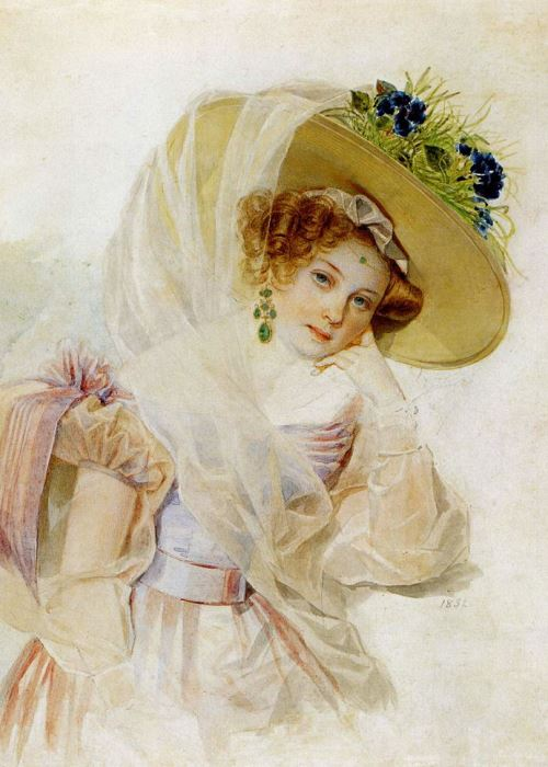 П. Ф. Соколов. Портрет С. А. Урусовой, 1832   Фото: pinterest.com