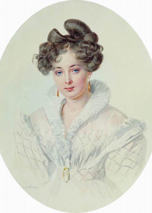 П. Ф. Соколов. Портрет С. А. Урусовой (предположительно), 1827-1828 | Фото: gallery.ru