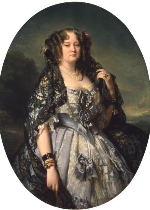 Ф. К. Винтерхальтер. Портрет княгини Софии Радзивилл, 1864 | Фото: gallerix.ru