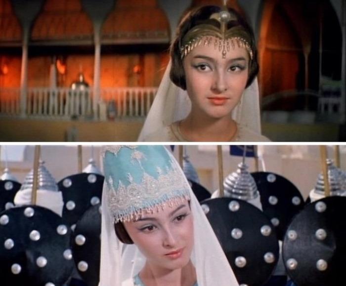 Додо Чоговадзе в фильме *Волшебная лампа Алладина*, 1966