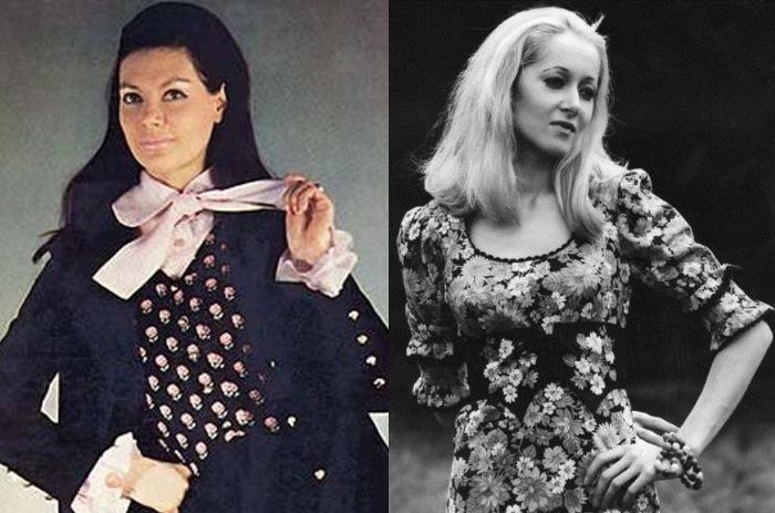 Советские манекенщицы Регина Збарская и Татьяна Соловьева