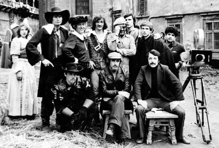 Николай Ващилин на съемках фильма *Д'Артаньян и три мушкетёра*, 1978 | Фото: tayni.info