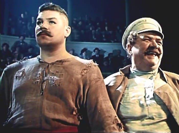 Кадр из фильма *Борец и клоун*, 1957 | Фото: kino-teatr.ru
