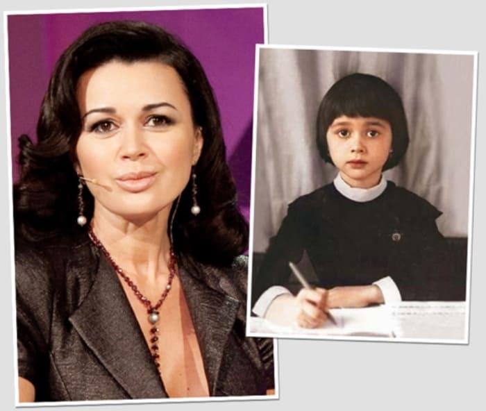 Анастасия Заворотнюк в школьные годы и сейчас | Фото: blognews.am