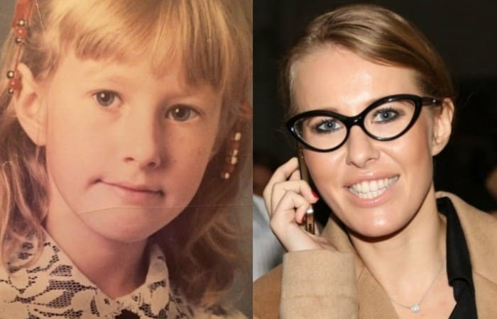 Ксения Собчак в школьные годы и сейчас | Фото: pressa.tv