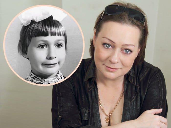 Мария Аронова в наши дни и в школьные годы | Фото: teleprogramma.pro