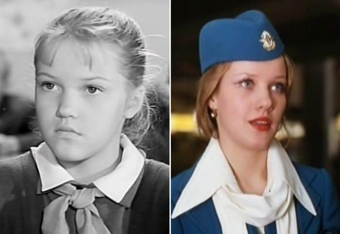 Елена Проклова в фильмах *Звонят, откройте дверь*, 1965, и *Мимино*, 1977 | Фото: 24smi.org и kino-teatr.ru