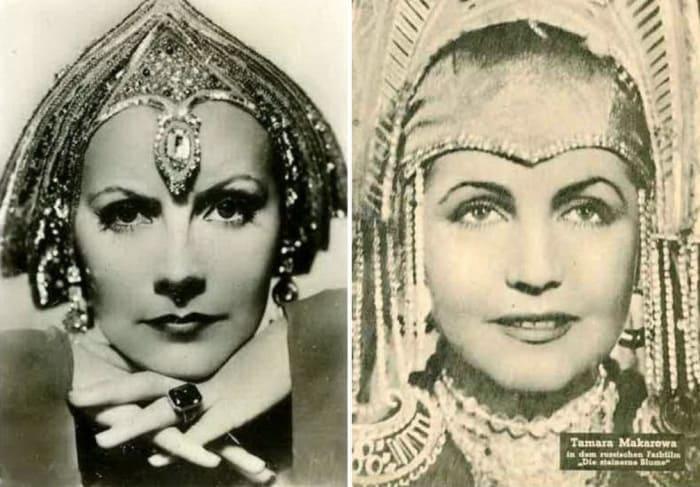 Грета Гарбо и Тамара Макарова, которую сравнивали с зарубежной звездой | Фото: kino-teatr.ru