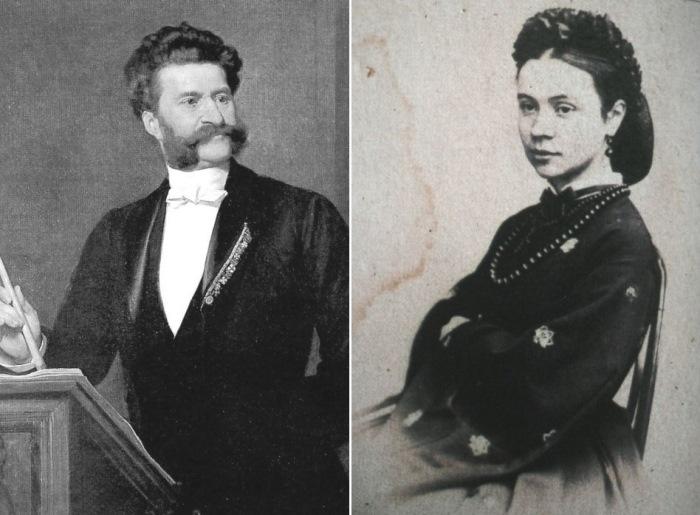 Иоганн Штраус и Ольга Смирнитская | Фото: venagid.ru