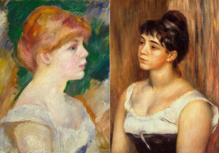 О. Ренуар. Слева – Сюзанна Валадон, 1885. Справа – портрет Сюзанны Валадон, 1885 | Фото: artchive.ru
