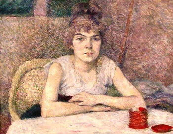 А. де Тулуз-Лотрек. Девушка за столом, 1887. Фрагмент | Фото: liveinternet.ru
