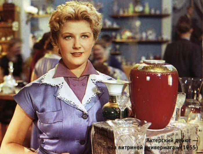 Светлана Дружинина в фильме *За витриной универмага*, 1955 | Фото: kino-teatr.ru