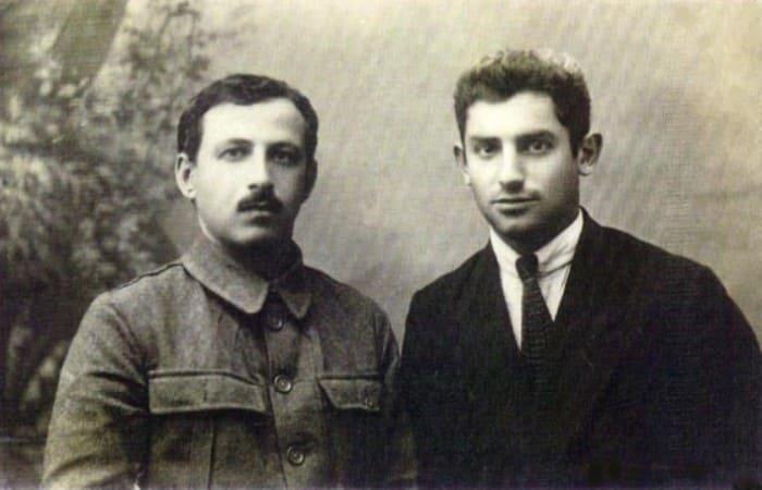 Военный комендант Ташкента Якименко и американский боксер Сидней Джексон, 1922 | Фото: mytashkent.uz