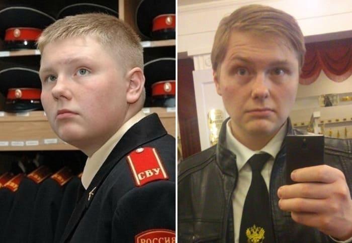 Павел Бессонов в сериале *Кадетство* и в наши дни | Фото: life.ru