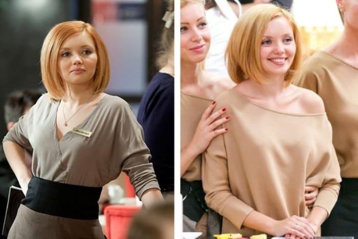 Ольга Кузьмина в 1-м и 6-м сезонах *Кухни* | Фото: vokrug.tv