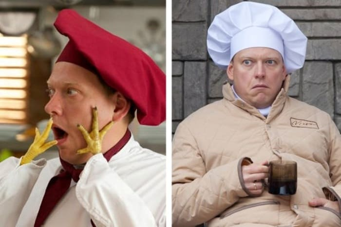 Сергей Лавыгин в 1-м и 6-м сезонах *Кухни* | Фото: vokrug.tv