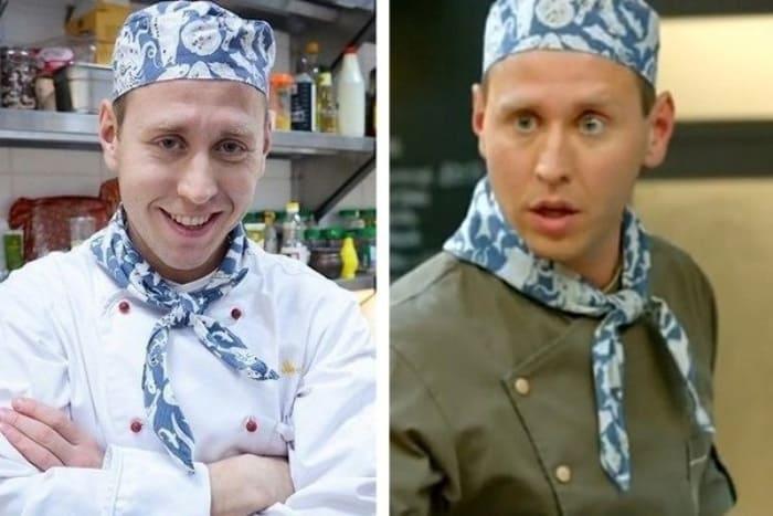 Михаил Тарабукин в 1-м и 6-м сезонах *Кухни* | Фото: vokrug.tv