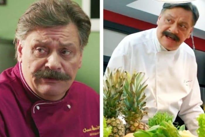Дмитрий Назаров в 1-м и 6-м сезонах *Кухни* | Фото: vokrug.tv
