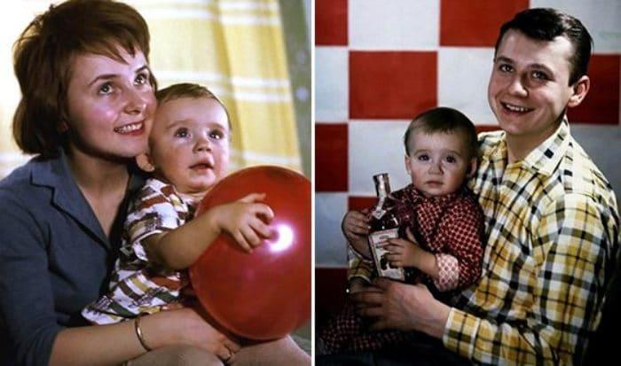 Олег Табаков, Людмила Крылова и их сын Антон   Фото: uznayvse.ru