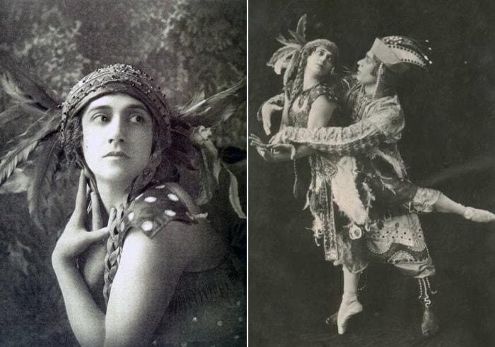 Т. Карсавина в балете *Жар-птица* | Фото: radikal.ru и litceymos.ru