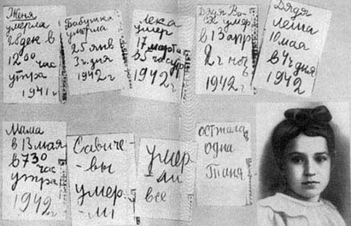 Страницы дневника Тани Савичевой | Фото: world-war.ru