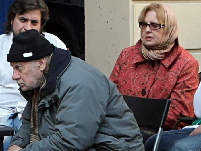 Татьяна Ташова с мужем на съемках фильма *Три женщины Достоевского*, 2010 | Фото: fishki.net