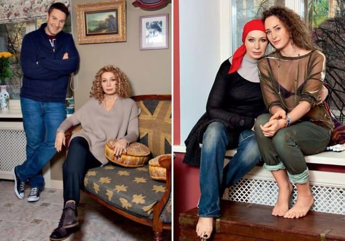 Актриса с сыном Филиппом и дочерью Лизой | Фото: 7days.ru