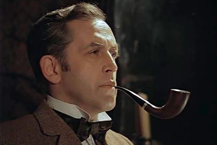 Василий Ливанов в роли Шерлока Холмса | Фото: kino-teatr.ru