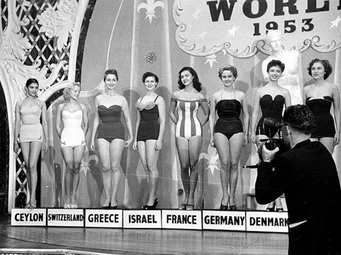 Участницы конкурса красоты *Мисс Мира* 1953 г. | Фото: obozrevatel.com